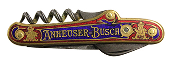 Red & Blue Stanhope Pocketknife by Anheuser Busch - :Cordially, Adolphus Busch